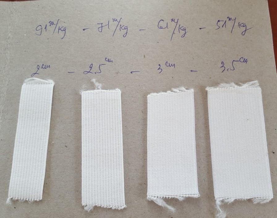 Thun bản Thiên Ân - Số lượng mét theo từng size thun bản